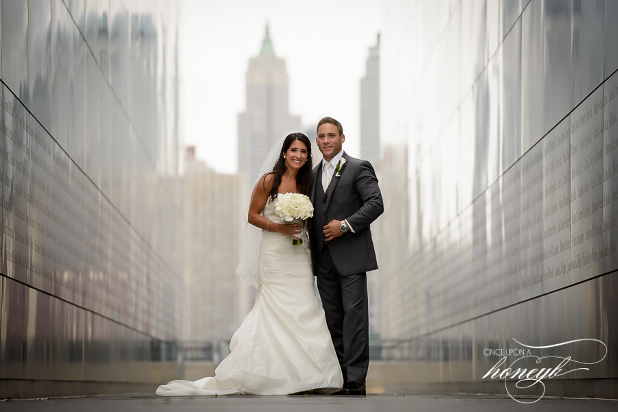 Lauren and Keith's Wedding at Liberty House. Photo taken at Liberty State Park overlooking Manhattan.
